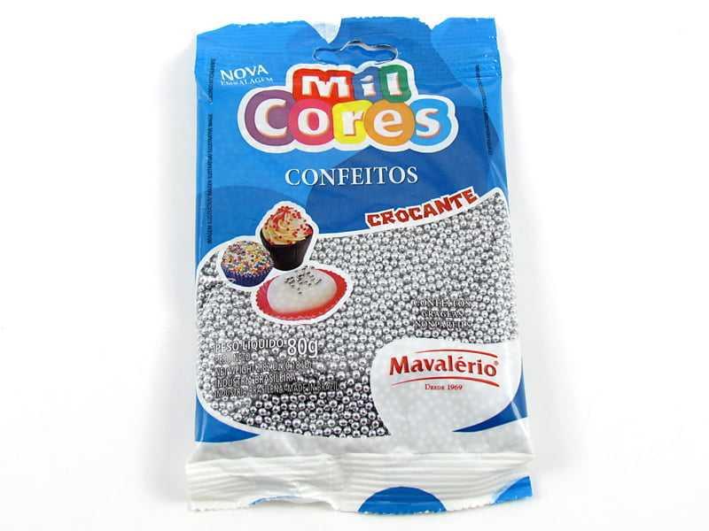 Confeitos Prata N1 80g Mavalério
