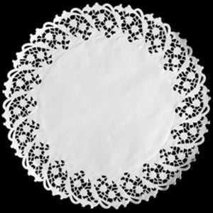 Forro de Papel Rendado Redondo Branco 360 c/6 Mago