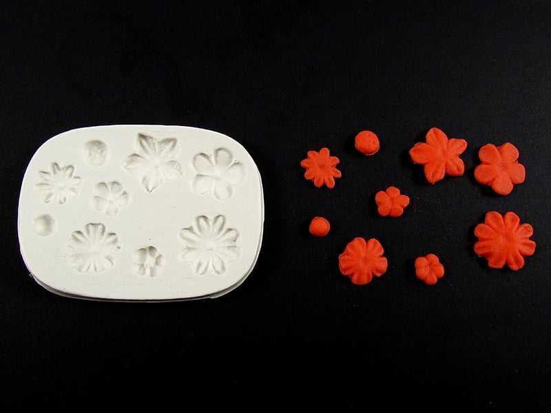 Molde de Silicone Conjunto de Flores S1007 Gummies