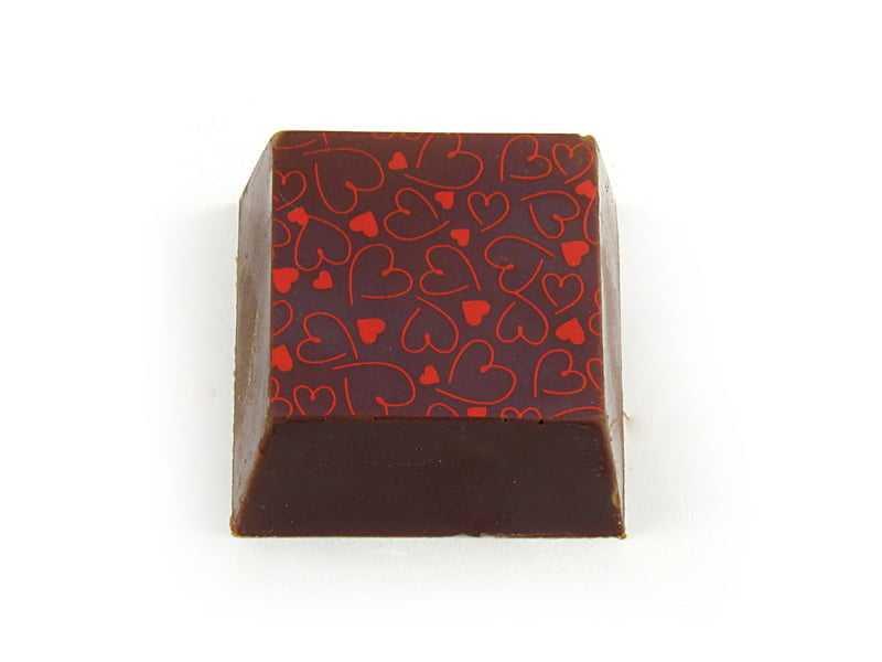 Transfer para Chocolate Coraçãozinho Vermelho Mercantil Helvétia