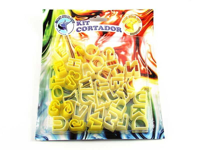 Kit Cortadores de Letras e Números c/38 Peças - Bluestar