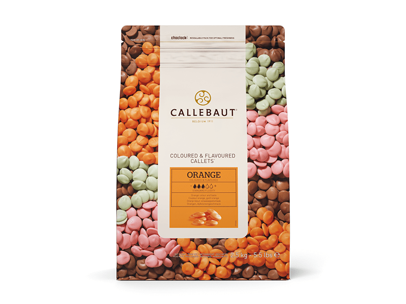 Callets Callebaut Chocolate Branco Laranja 2,5kg
