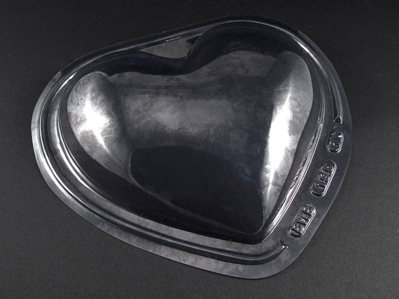 Forma de Acetato Coração Liso 1KG 196 Bwb