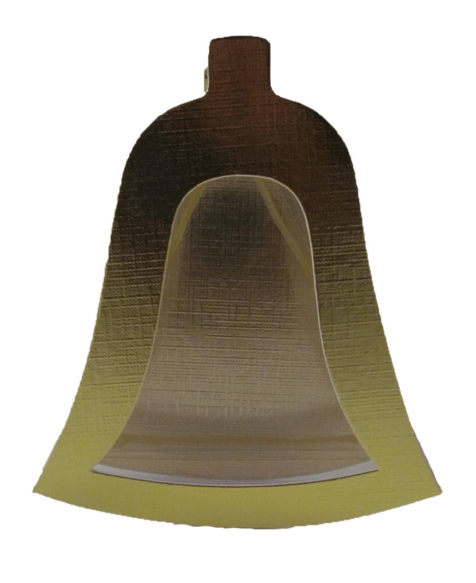 Caixa Sino de Natal Metalizada e Acetato 13,5x12x3,5 cm Csr