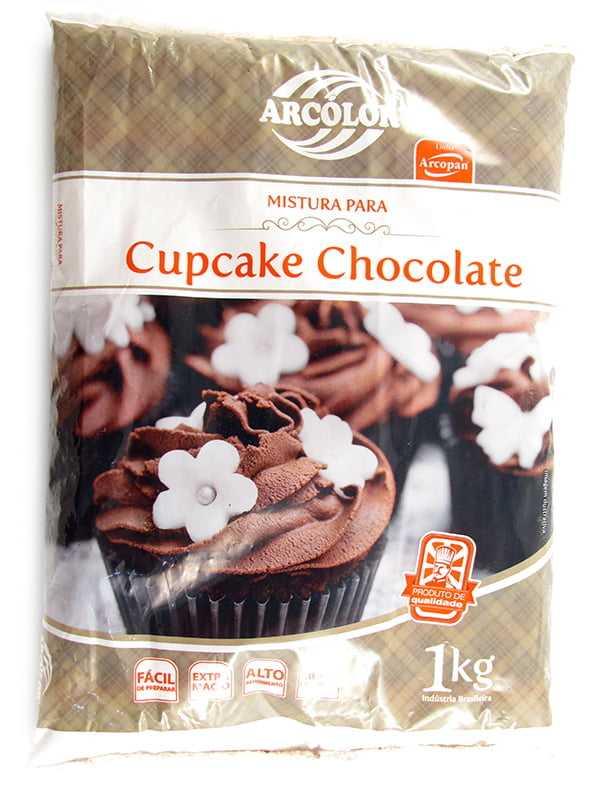 Mistura p/ Cupcake Chocolate 1k Arcolor