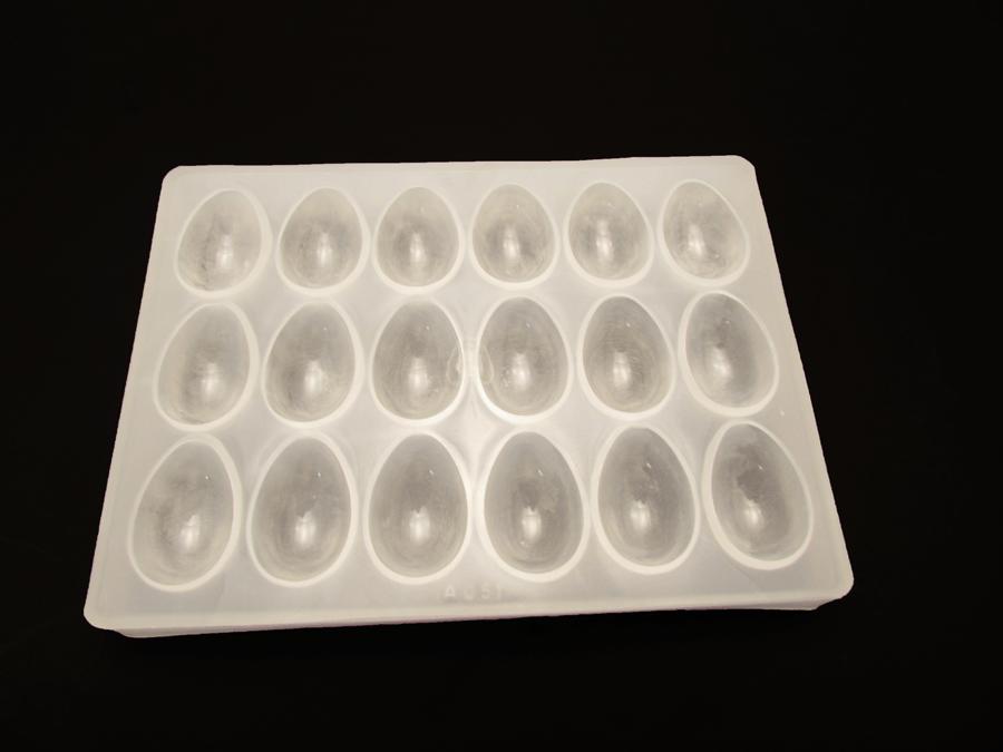 Forma De Plástico Branca Para Ovo 15 Gr A051 Cristal Formas