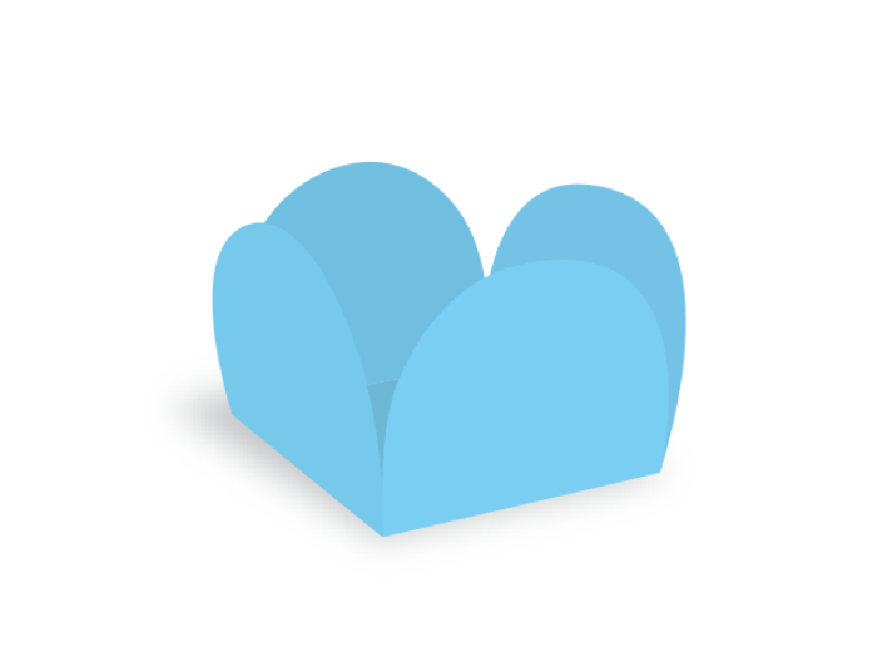 Forma para Doce Caixeta 3,5cm Azul Claro c/40 - Ultrafest