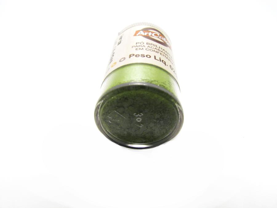 Pó Brilhante Verde 2g Artcake