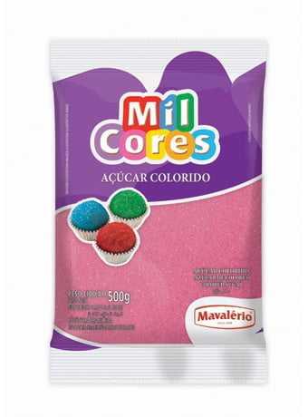 Açucar Colorido Mavalério 500g Rosa