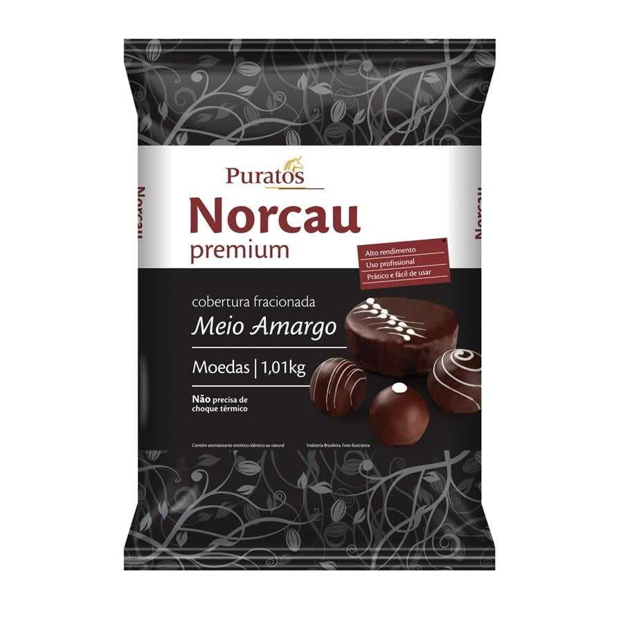 Cobertura Norcau Premium Chocolate Gotas Meio Amargo 1kg
