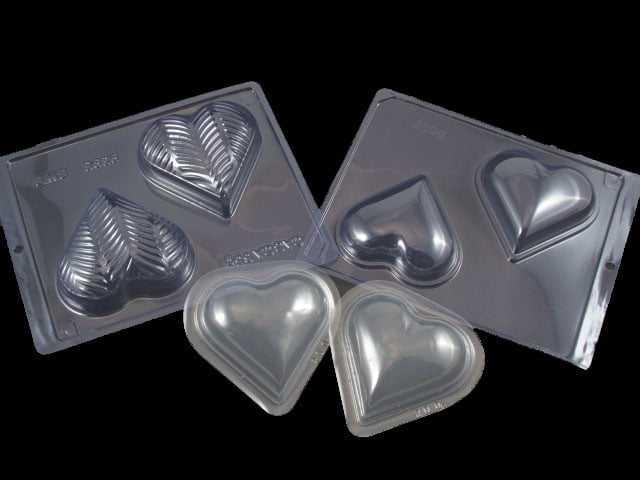 Forma Prática com Silicone Coração Textura Plumas N9396 Bwb