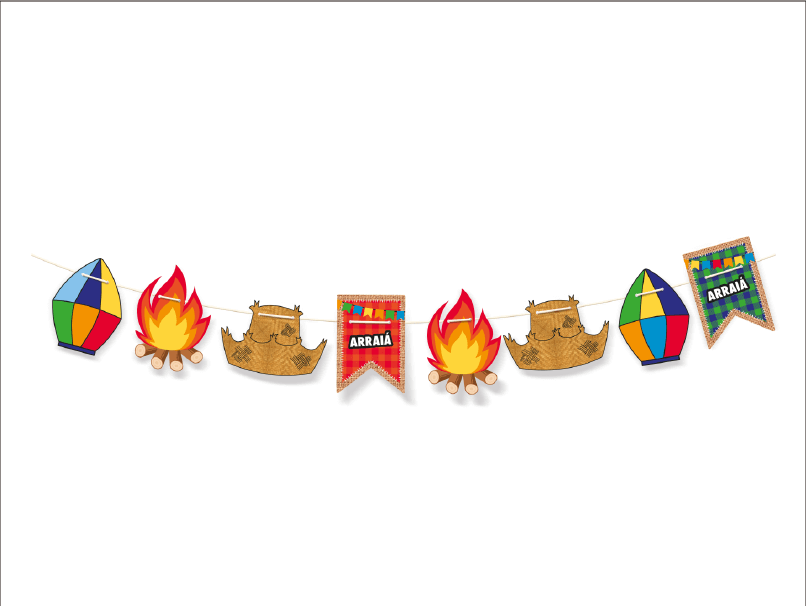 Faixa Decorativa Arraiá – Cromus
