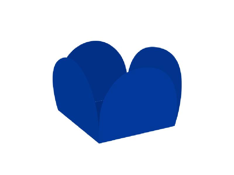 Forma para Doce Caixeta 3,5cm Azul Escuro c/ 50 unidades - Ultrafest