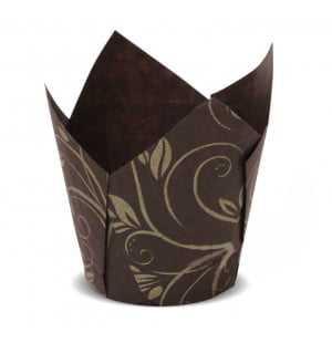 Forminha para Cupcake Tulipa Marrom c/24 Ultrafest