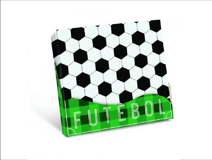 Guardanapo Futebol 25x25 c/20 unidades – Cromus