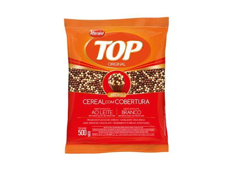 Cereal Ball Micro Harald Top Sabor Chocolate ao Leite e Branco 500g