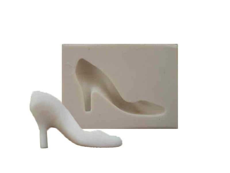 Molde de Silicone Sapato de Salto - Mzl
