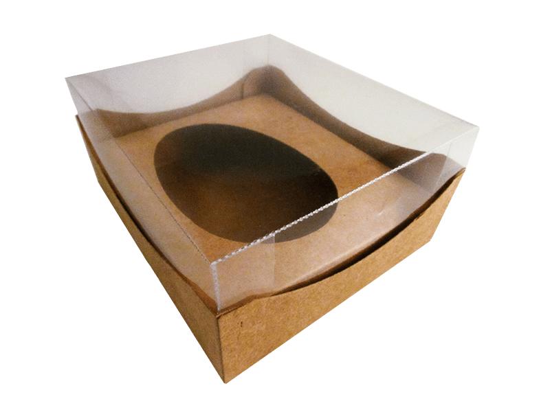 Caixa para Ovo de Páscoa de Colher Kraft 350g c/10 unidades - Agabox
