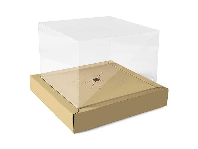 Caixa para Ovo de Colher 250g - Ouro - Moldura – Cromus