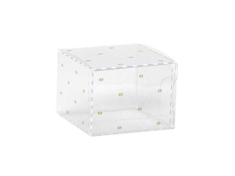 Caixa de Acetato para 1 Doce Poá Ouro c/10 – Cromus