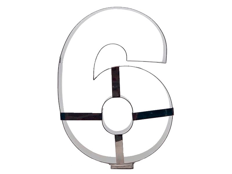 Aro Cortador Number Cake Número 6 – Caparroz