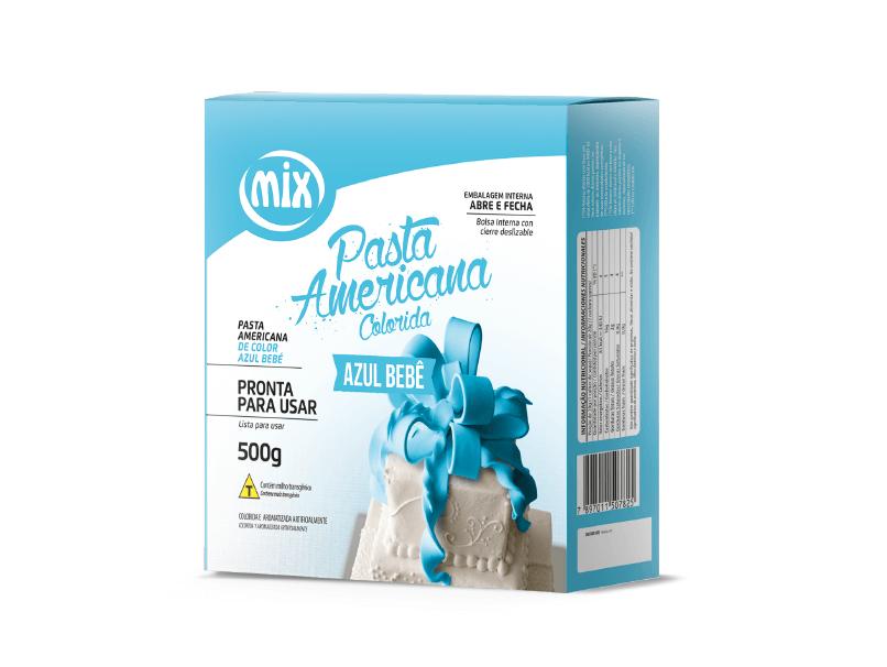 Pasta Americana 500g Azul Bebê -  Mix