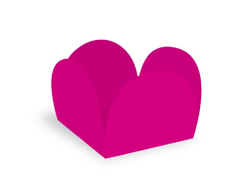 Forma para Doce Caixeta 3,5cm Pink c/40 Ultrafest