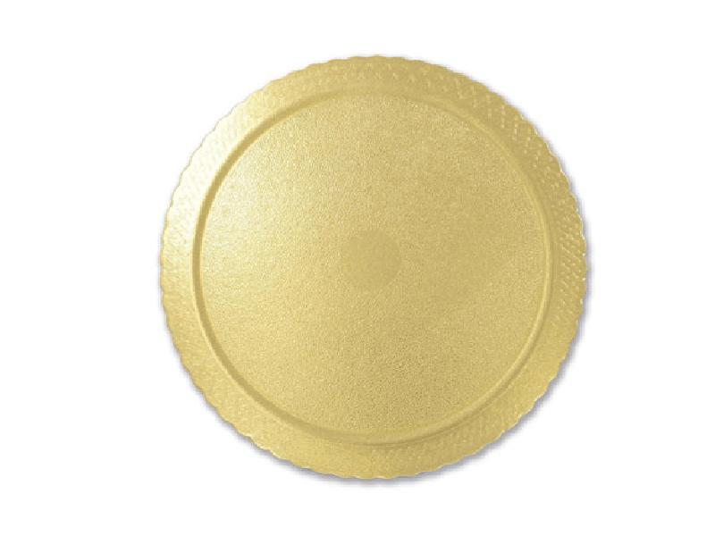 Disco Laminado para Bolos e Tortas Redondo 24cm – Ouro – Ultrafest