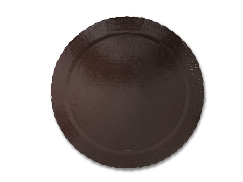 Disco Laminado para Bolos e Tortas Redondo 24cm – Marrom – Ultrafest