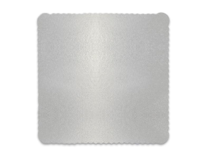 Disco Laminado para Bolos e Tortas Quadrado 24x24cm – Prata – Ultrafest