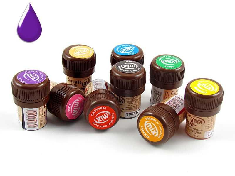 Anilina em Gel Para Chocolate Violeta 12g Mix