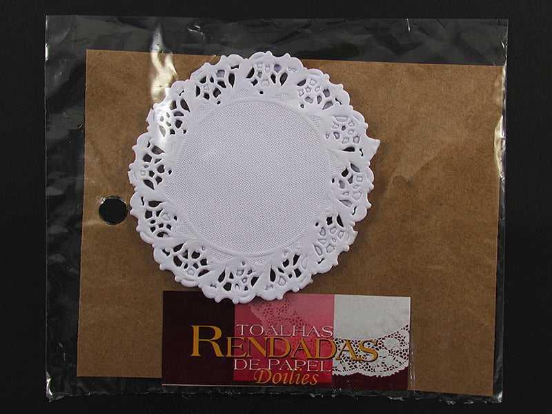 Forro de Papel Rendado Redondo Branco 91 c/24 Mago