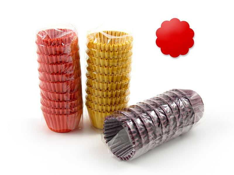 Forminha Papel Impermeável N4 Vermelha c/100 Flopel