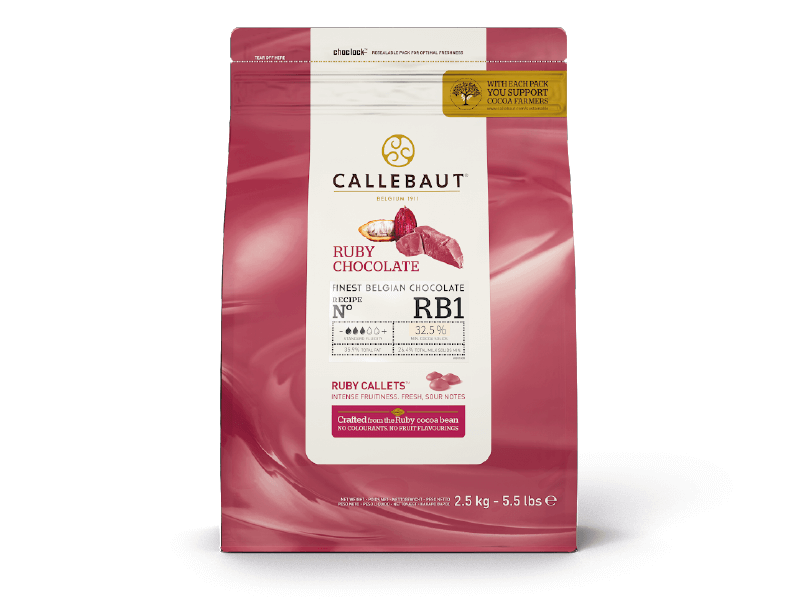 Chocolate Ruby RB1 2,5 kg Callebaut