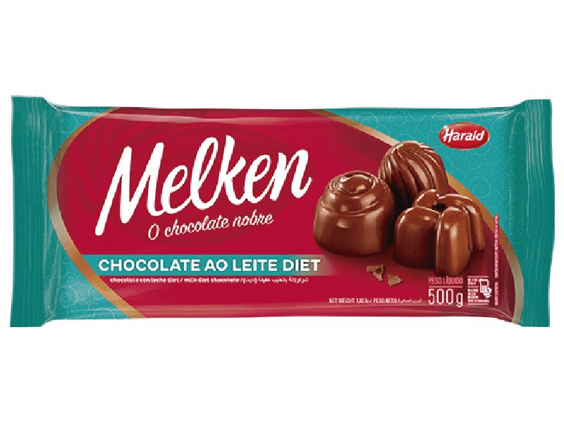 Chocolate Harald Melken Diet ao Leite 500g