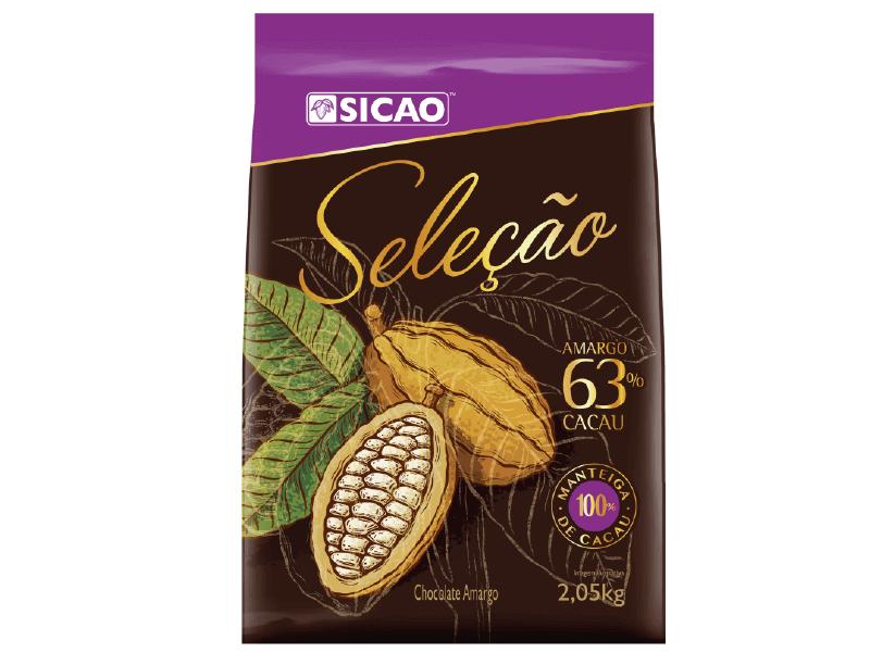 Chocolate Sicao Amargo Seleção 63% Cacau – Gotas 2,05kg