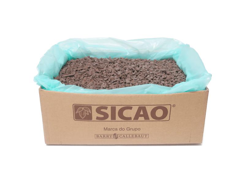 Cobertura Sicao Chocolate Forneável Meio Amargo Mini Chunks  10kg