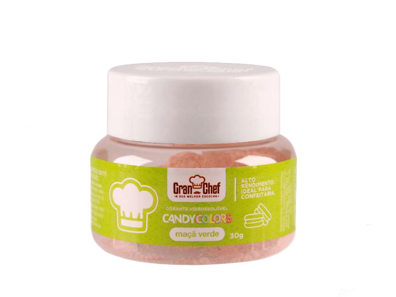 Corante Em Pó Hidro Maçã Verde-Candy Colors 30g Gran Chef