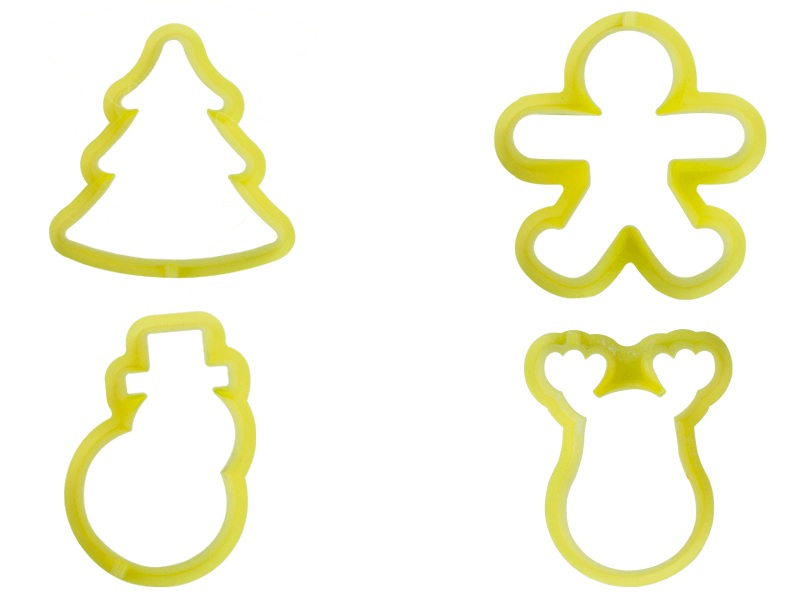 Cortador Natal I com 4 Peças - Bluestar