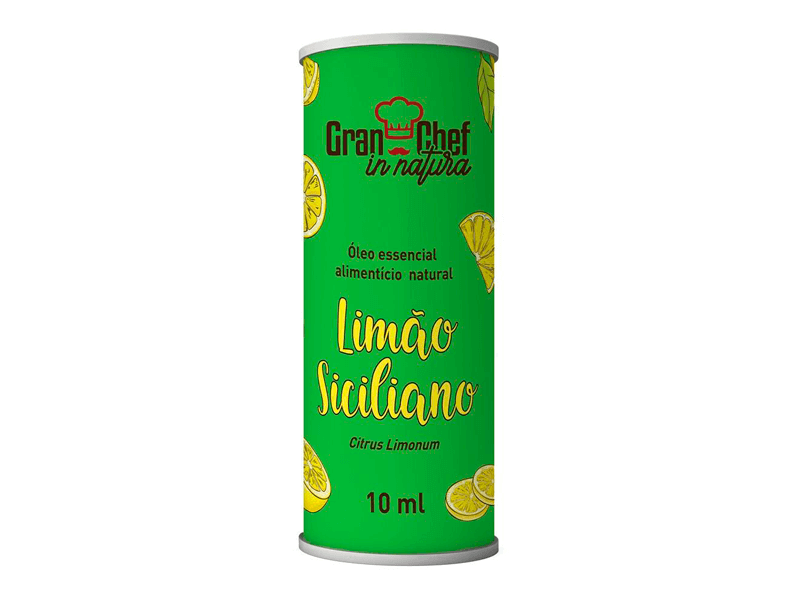 Óleo essencial Natural Limão Siciliano 10ml - Gran Chef