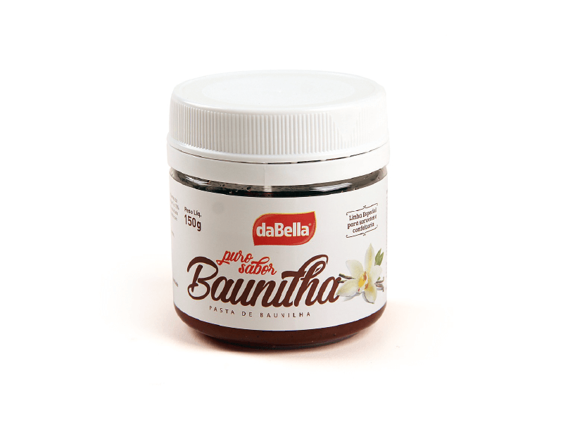 Pasta Saborizante Baunilha 150g - daBella Puro Sabor