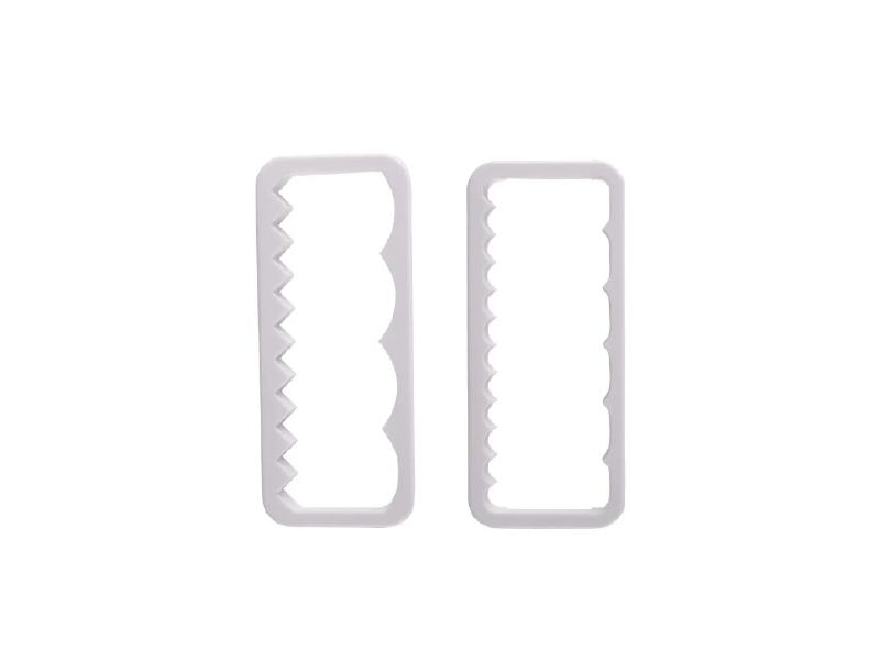 Cortador Plástico Babado Reto Com 2 Peças