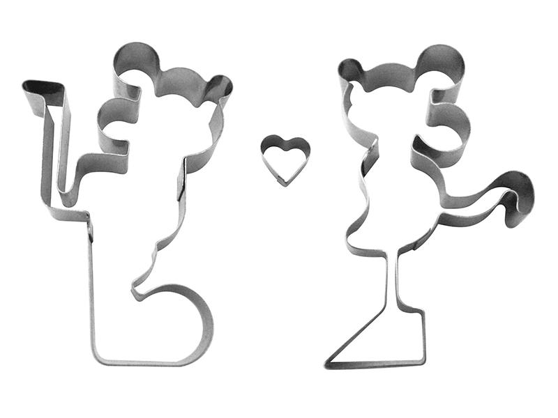 Kit Cortadores Casal Mickey e Minnie c/3 peças - Cooktime