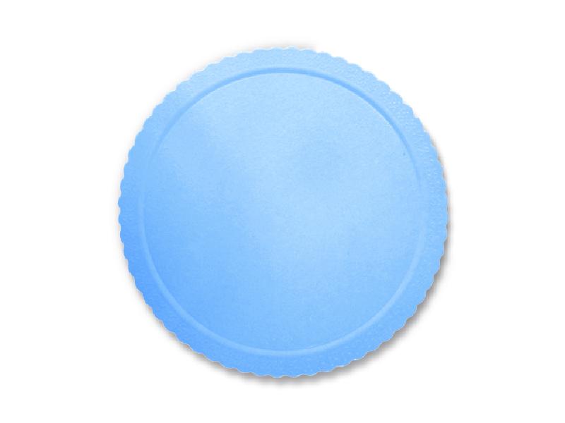 Disco Laminado para Bolos e Tortas Redondo 24cm – Azul Claro - Ultrafest