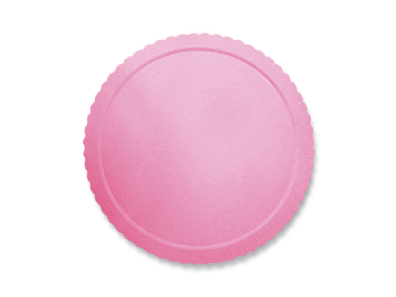 Disco Laminado para Bolos e Tortas Redondo 24cm – Rosa - Ultrafest