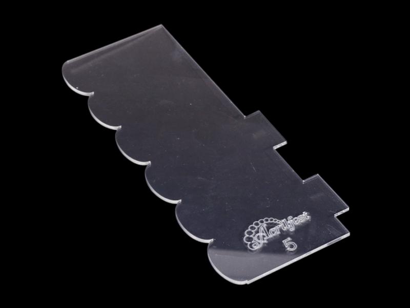 Espátula Decorativa para Bolo - Modelo  05 - Acrilfest