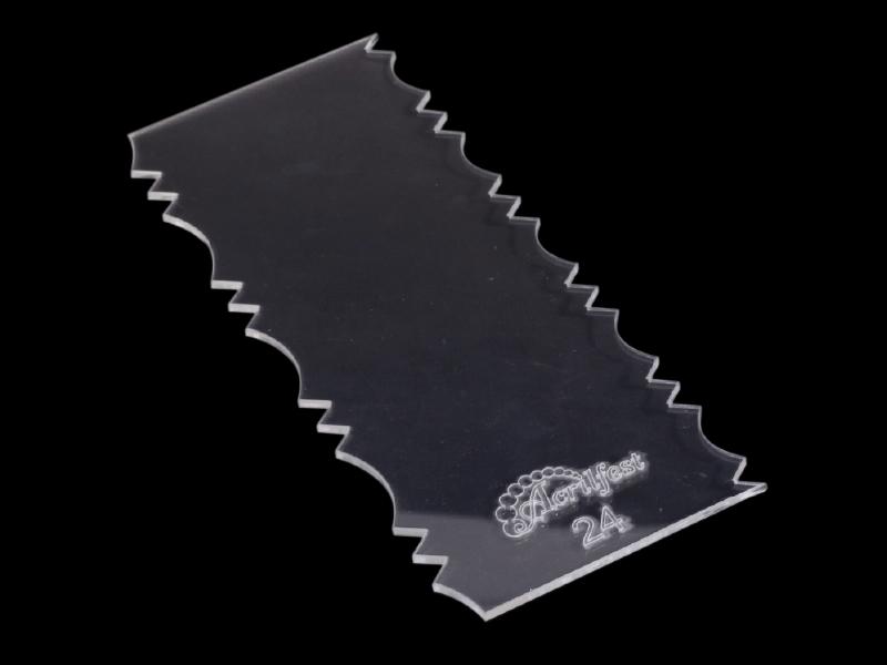 Espátula Decorativa para Bolo - Modelo 24 - Acrilfest