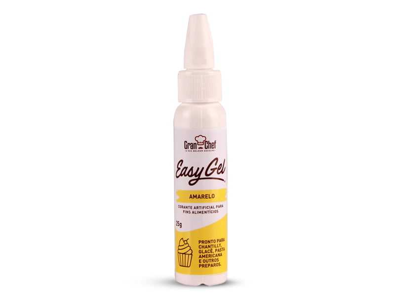 Corante Easy gel Amarelo 25g-Gran Chef