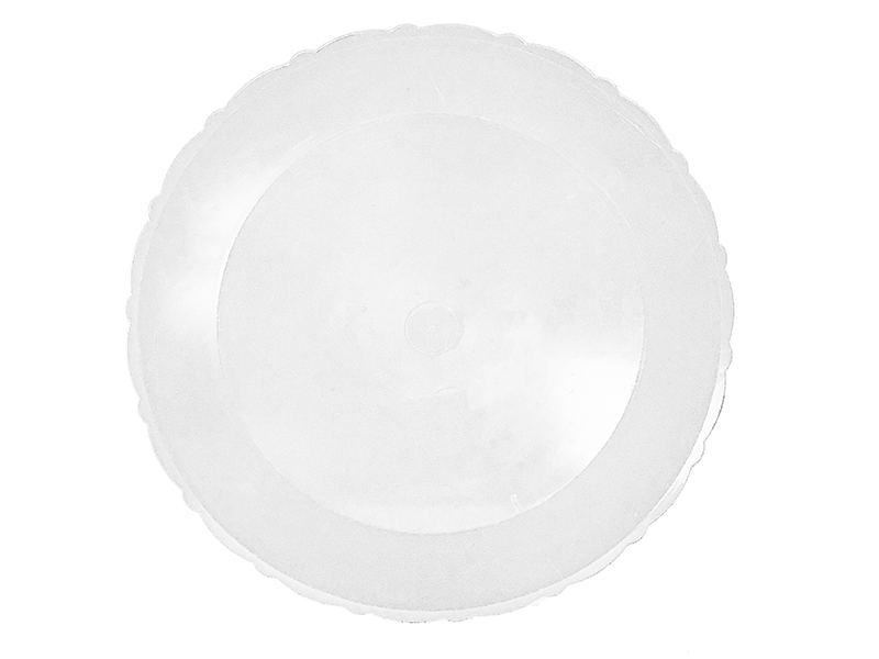 Bandeja de Plástico Redonda Transparente 27 cm - Lsc Toys