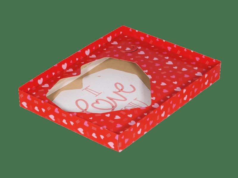 Caixa para Coração Lapidado de Colher 500g c/ 5 unidades - Love You - Decora Doces